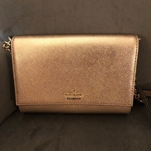 Rose gold kate spade crossbody